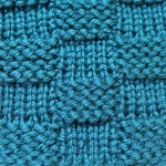 Garter Stitch Checks – Nice Version of the Basketweave