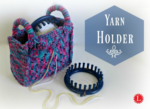 Yarn Holder Knitting Pattern : Loom Knit Yarn Holder Bag Video - LoomaHat.com