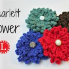 loom knit scarlett flower