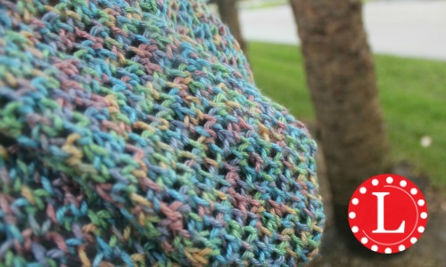 loom knit mock crochet infinity scarf free pattern with