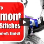 Remounting Stitches After Cast-off