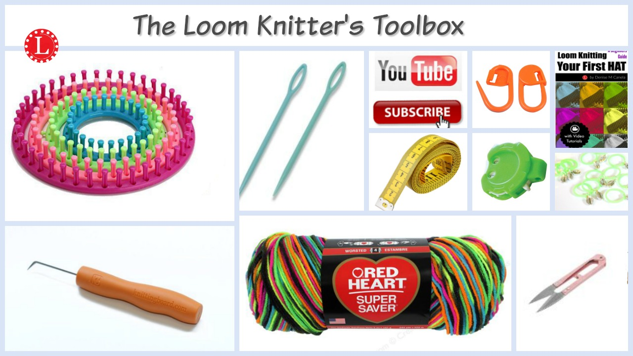 Knitting Materials For Beginners : Beginners supply list for loom knitting loomahat