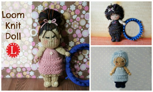 Cupcake Loom knit dolls