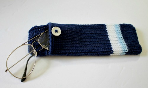 Loom Knit Glasses Case