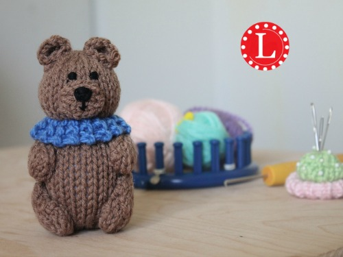 Mini Loom Knit Teddy Bear Pattern Video Loomahat