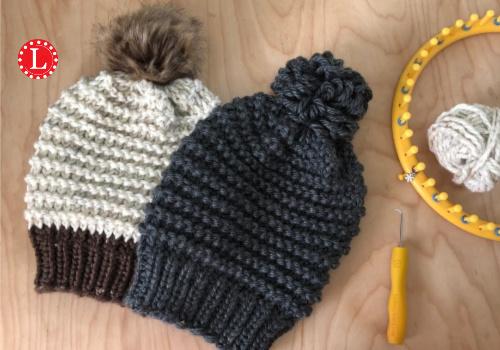 Loom Knit Garter Stitch Hat Pattern Video Loomahat Com