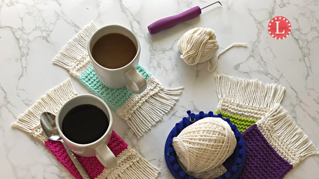 Loom Knit Coaster Pattern Info And Video The Mug Rug Loomahat Com
