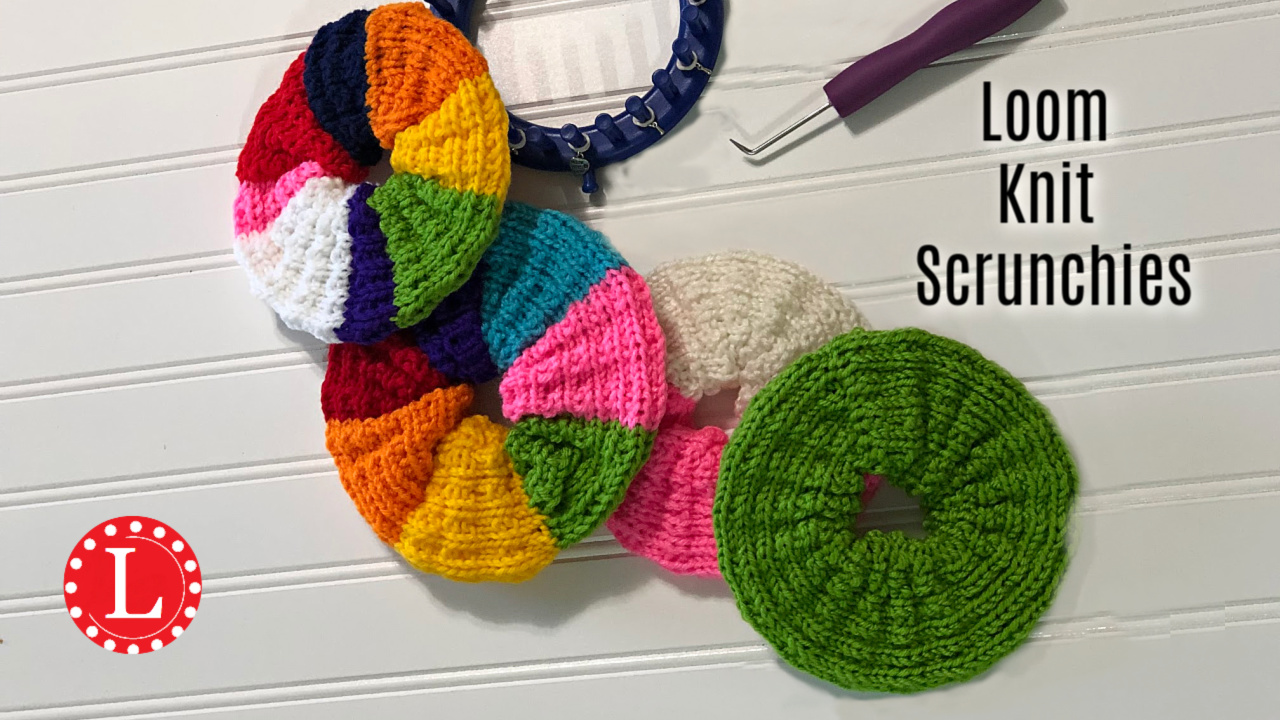 Loom Knit Scrunchies On Round Loom Pattern Video Loomahat Com